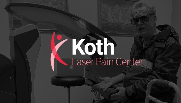 Paitent receiving MLS laser treatment