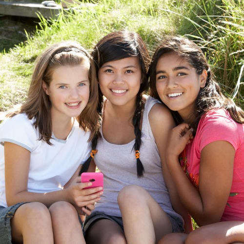 Adolescent Scoliosis Patients - three girls smiling