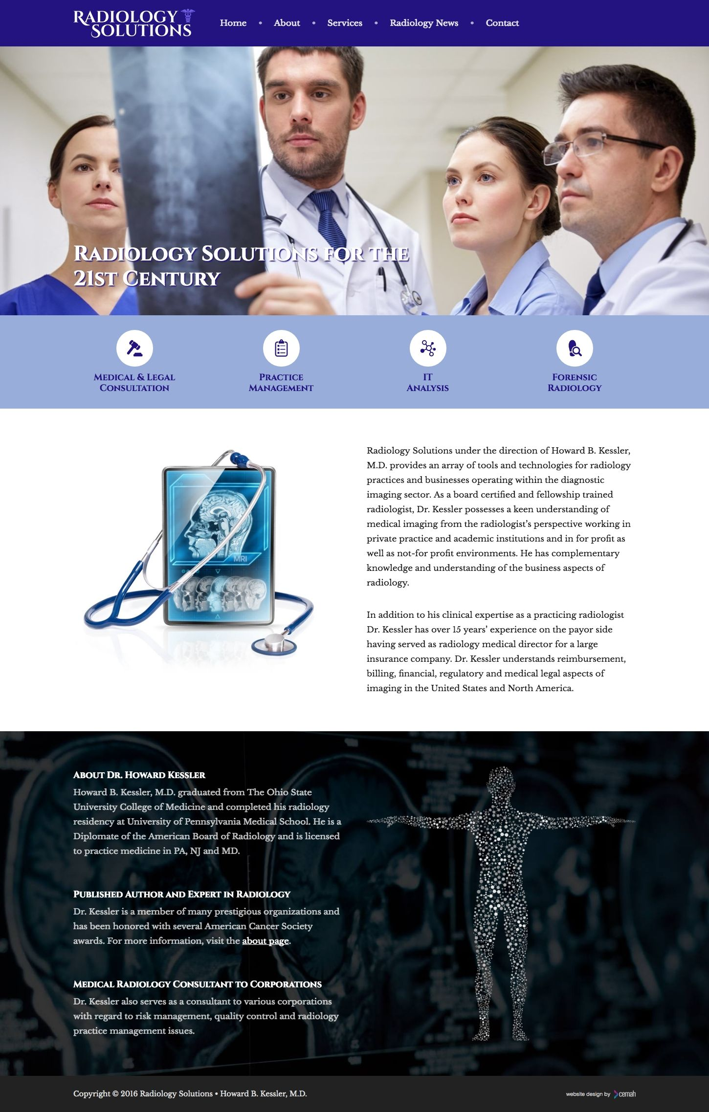 Radiology Website Design • Portfolio • Cemah Creative LLC