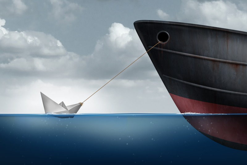 Cost to maintain a website is sometimes like a little paper tug boat pulling a giant ship.