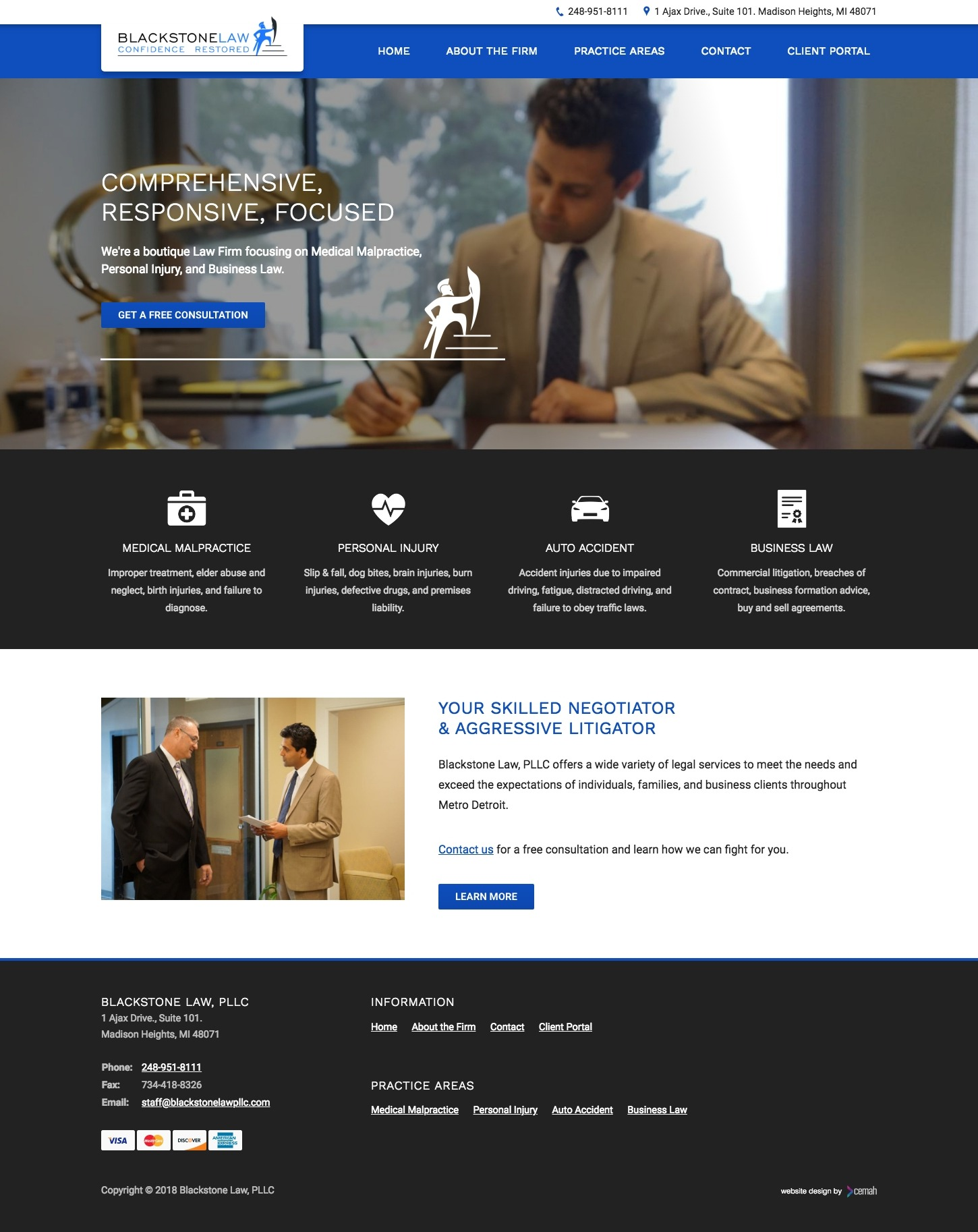 Law Firm Website Design • Portfolio • Cemah Creative LLC