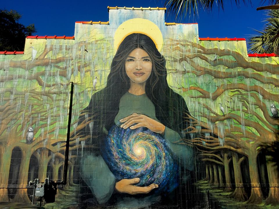 """""""The Center of It All"""" Mural - Carrie and Jesus Martinez"""