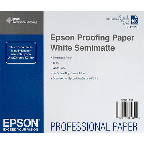 Epson Commercial Proofing Paper White Semimatte - 13x19