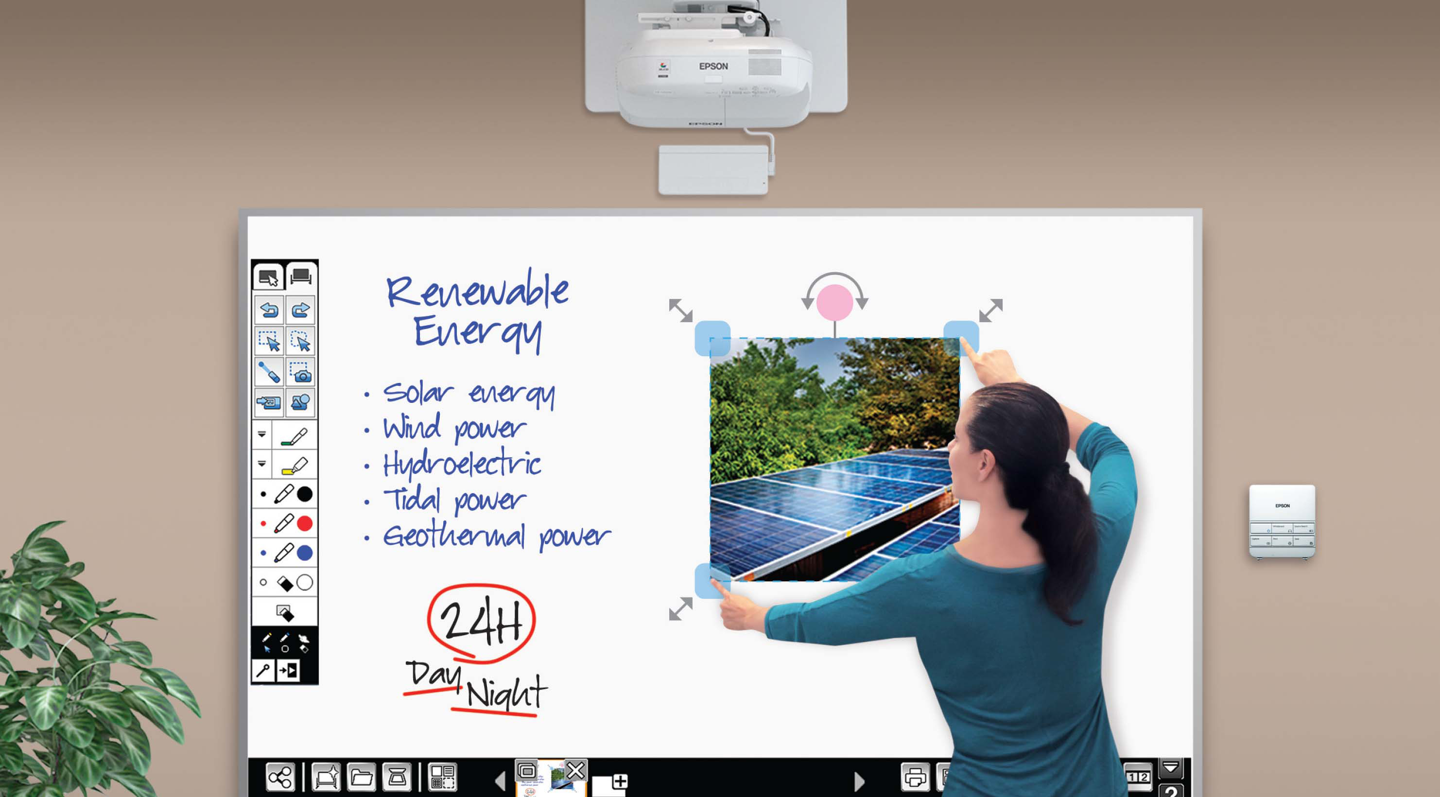 Epson BrightLink Pro 1430Wi 3300 Lumens Interactive Projector (NO  WHITEBOARD)