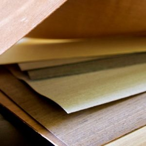 Small wood veneer sheets with peel and stick veneer backing perfect for DIY projects.