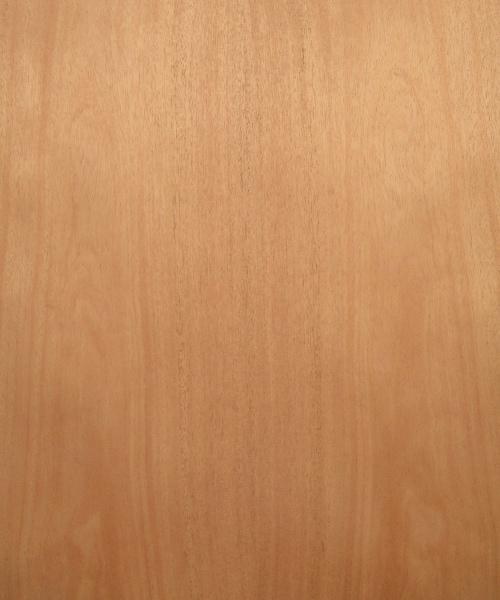 African mahogany wood veneer sample, flat cut