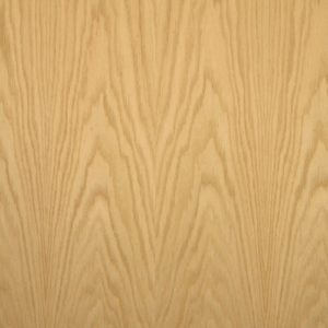 Red oak wood veneer sample, flat cut