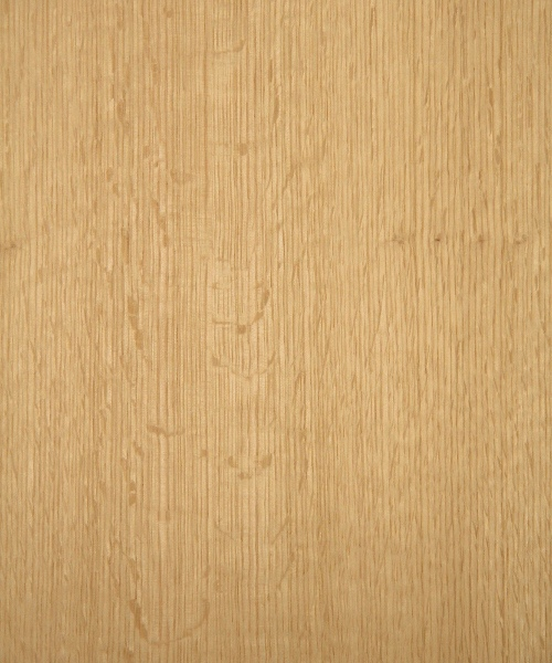 Red oak wood veneer sample, quarter cut, medium flake