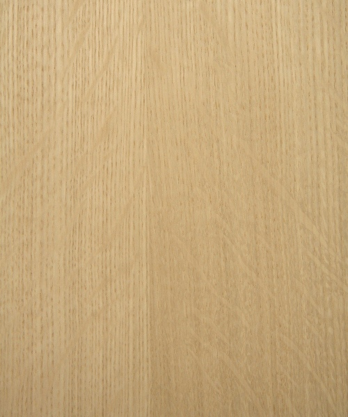White oak wood veneer sample, quarter cut, heavy flake