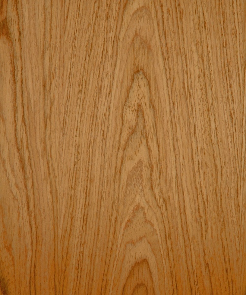 Flat cut reconstituted teak wood veneer sample