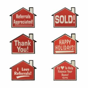 Large Heart, I Love Referrals - Red Great Real Estate Agents and Sales Supplies Heart Shaped I Love Referrals Stickers