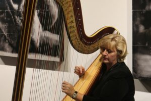 KLF Harpist performing at the GWBC Lace Awards Gala