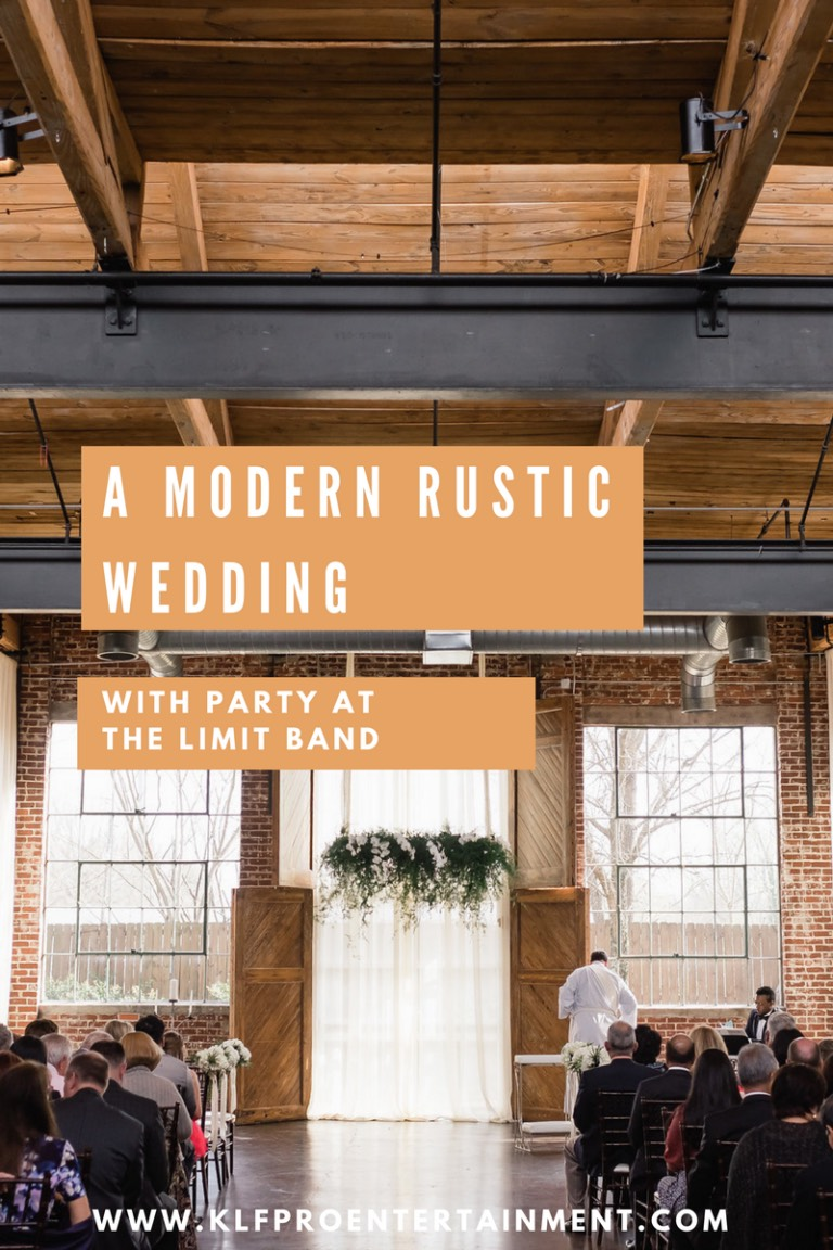party at the limit band modern rustic wedding