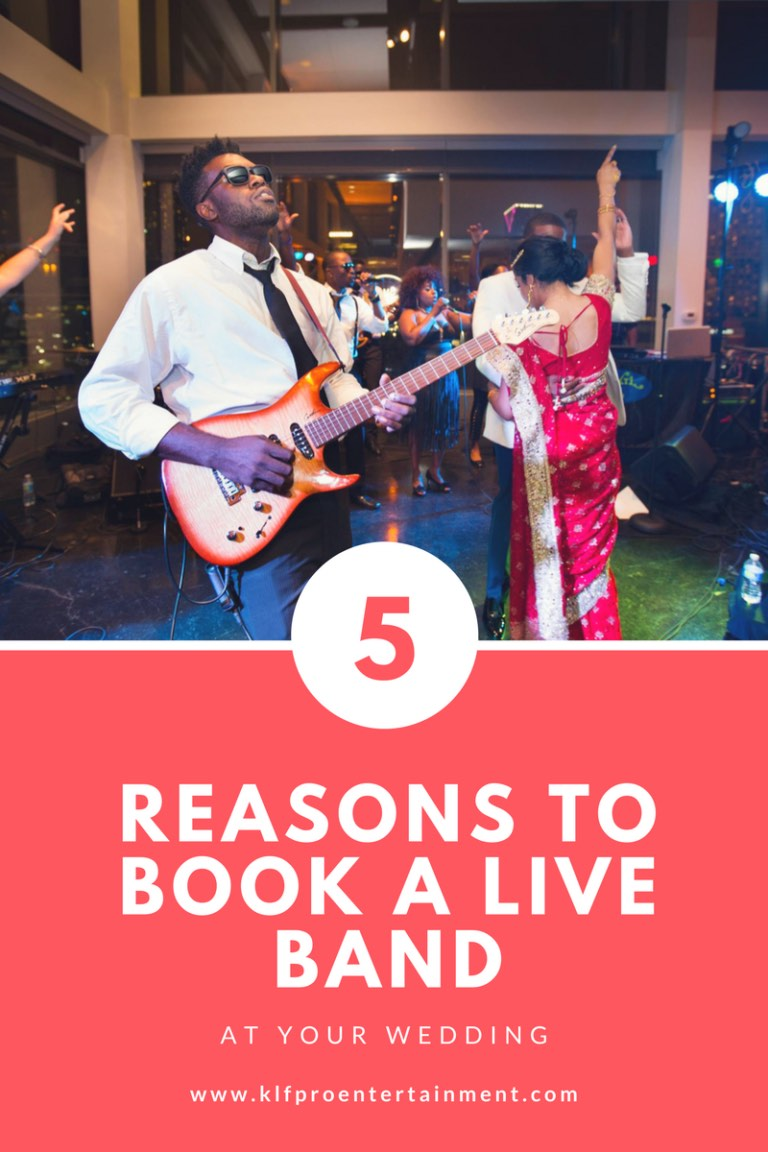 5 Reasons to book a live band