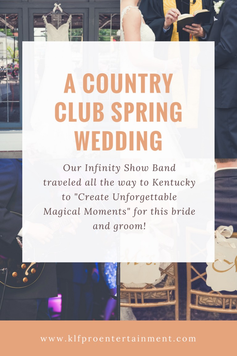infinity show band country club wedding