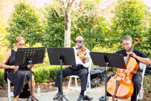 String trio performing Classical Music at a wedding ceremony.