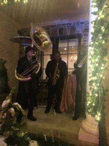 Phat Katz Brass Band playing Holiday Music (in the snow!)