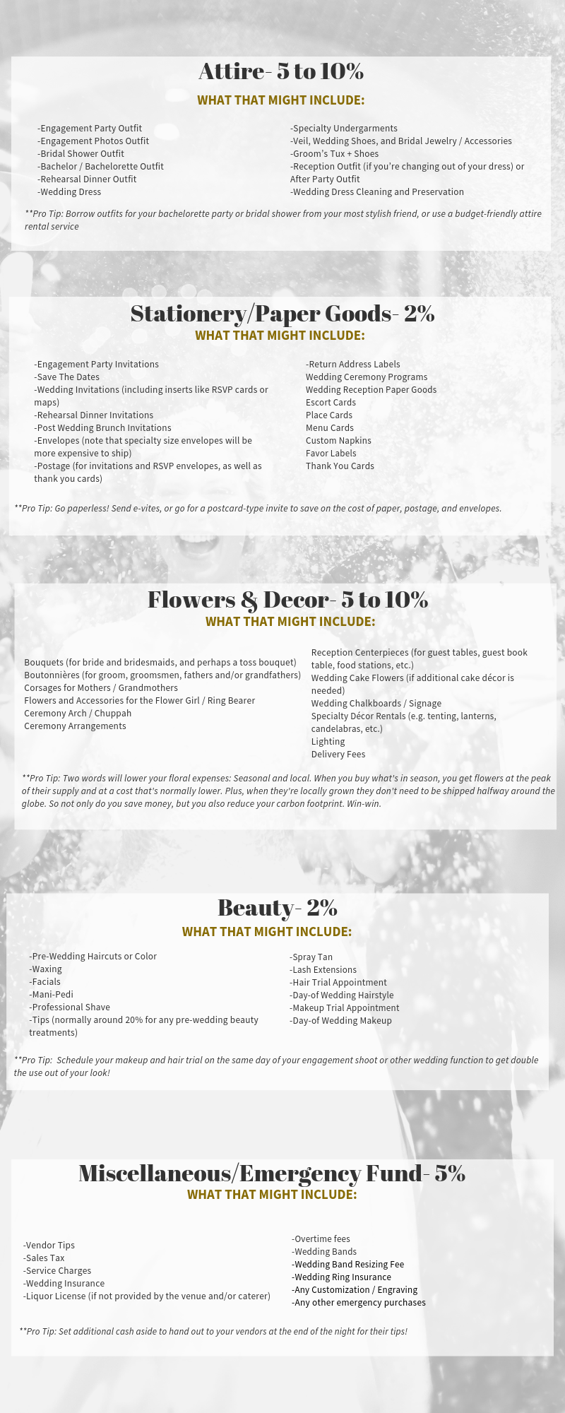 The Ultimate Wedding Budget Guide Page 2