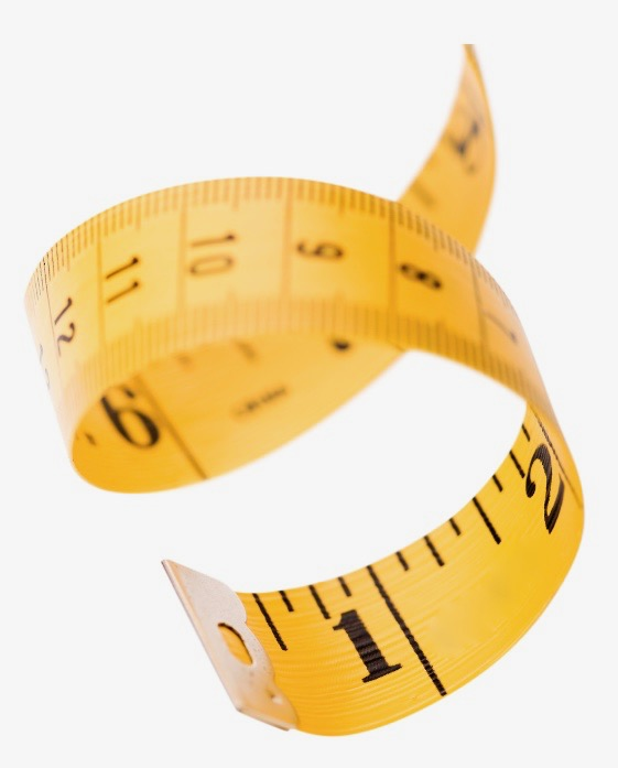 a photo of a measuring tape which is used to measure leg length discrepancy